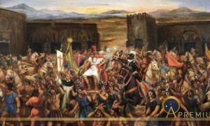 The Capture of Atahualpa. Juan B. Lepiani,  (1864-1932)(Public Domain)
