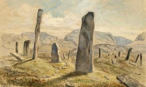 Standing stones, Greby grave field