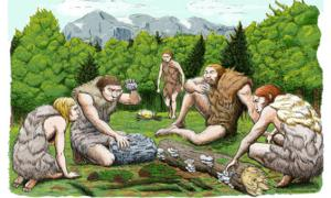 An artist's impression of the El Sidron Neanderthals who were likely gathering much of their food, rather than hunting large game. Source: CSIC Spain, Author provided