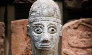 Face of the Statue of Idrimi. Tell Atchana, Turkey, 16th century BC.