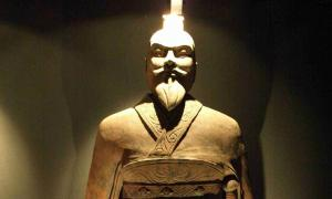 Statue of emperor Qin, China (reconstitution).