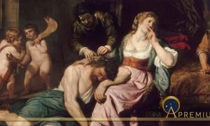 Samson and Delilah by Domenico Fiazella (1650) Louvre (Public Domain)