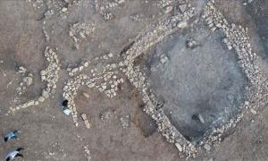 The Stone Age rock tombs recently found at the Kizilkoyun Necropolis area not far from Göbekli Tepe .            Source: AA News Broadcasting System (HAS)