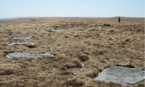 First Standing Stone Circle in Dartmoor, England