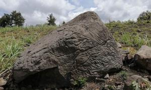 The ancient stone map dating back to 200 BC to 200 AD has been discovered in Colima, Mexico.         Source: INAH