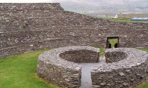 "Stone ringfort, ""Ring of Kerry"" in Ireland."