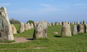 Ale's Stones at Kåseberga, around ten kilometers southeast of Ystad.