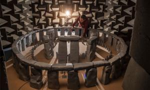 1:12 scale model to explore how Stonehenge acoustics would have been in 2200 BC. Source: Trevor Cox / University of Salford