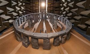 A team from the University of Salford has built a scale model of Stonehenge to test the acoustics of the famous Neolithic structure. Source: Acoustics Research Centre / University of Salford