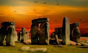 Stonehenge Sunset impression.