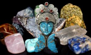 Stone and crystal traditions have been around for a very long time. This is a humanoid figure turned into a pendant