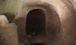A chamber found under the Plaza San Francisco during works on a subway station in Quito Ecuador.