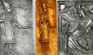 Shaman, Shaman and Chief from Father Crespi tablets photos. Images provided by the author.
