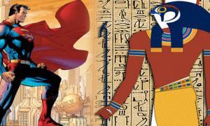 Sun God Horus and Superman