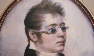 Detail of portrait from 1807 showing a young man in 'sunglasses.'