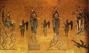 Forty days in the wilderness: Temptations of Christ, St Mark's Basilica.
