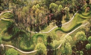 Aerial View of Serpent Mound.