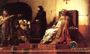 Pope Formoso and Stephen VI by Jean-Paul Laurens (1870) (Public Domain)