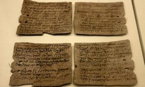 Tablet 343: Letter from Octavius to Candidus concerning supplies of wheat, hides and sinews.