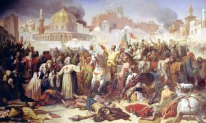 Taking of Jerusalem by the Crusaders, 15th July 1099, Emile Signol