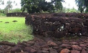 Ruins of Talietumu fort on ʻUvea.
