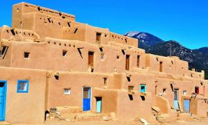 Taos Pueblo. New Mexico, USA.