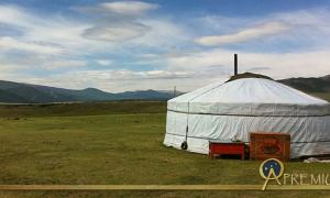 Open Sky and a Yurt in the Orkhon Valley