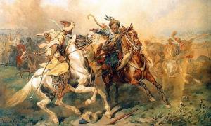 Taniec tatarski (Tatar's Dance), a painting by Juliusz Kossak