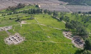 Tel a-Rai, site postulated for Ziklag, where David found sanctuary under the Philistine wing.