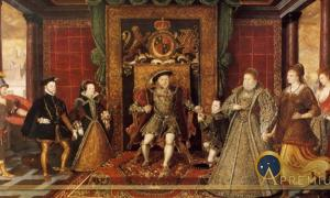 The Family of Henry VIII: An Allegory of the Tudor Succession by Lucas de Heere (1572) National Museum Cardiff (Public Domain)