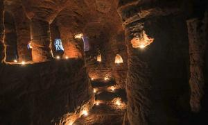 You Never Know What You'll Find Down the Rabbit Hole! Were the Spooky Caynton Caves a Secret Templar Sanctuary?