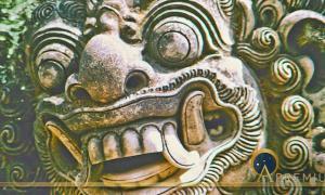 Batara Kala, the Hungry Giant God of Time and Destruction