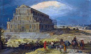 The Building of the Temple of Artemis at Ephesus by Hendrik van Cleve III