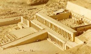 Reconstructed Temple of the Night Sun in Mortuary of Queen Hatshepsut