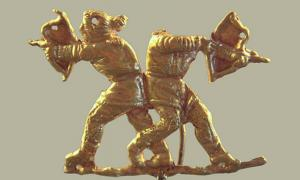 Scythians shooting with the Scythian bow, Kerch (ancient Panticapeum), Crimea, 4th century BC.