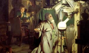 """The Alchymist, in Search of the Philosopher's Stone"" by Joseph Wright of Derby, 1771."