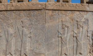relief at the ancient Persian city of Persepolis (now in modern Iran), including inscriptions in cuneiform, the world's oldest form of writing.