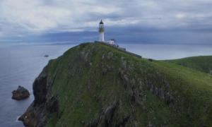 The Eilean Mor lighthouse, Scotland.