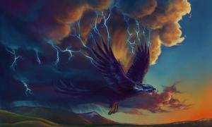 The Great Thunderbird. (Selladorra/Deviant Art) Native American legends of Mount Katahdin include tales of Thunderbirds living there.