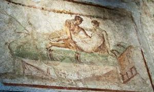 Mural from a Pompeii brothel.