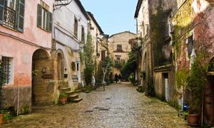 The center of Calcata, Italy