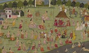 Vedic King Yudhisthira performs the Rajasuya Sacrifice.