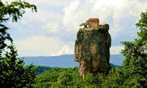 The Katskhi Pillar in Georgia.