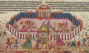 Illustration of Mahabharata (Public domain)