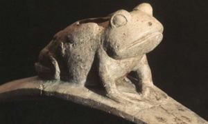 Hopewell Platform Frog Effigy Pipe