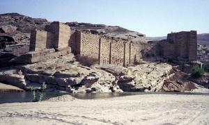 The ruins of the Ma'rib Dam.