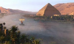 Digital reconstruction of the Nile River from Assassin's Creed Origins.