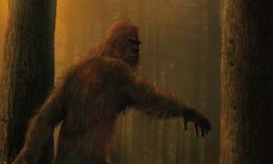 Artistic representation of bigfoot.