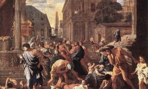 The Plague at Ashdod by Nicolas Poussin