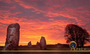 Avebury Stone Circle and Henge at sunrise Wiltshire England UK By Gail Johnson (Adobe Stock)